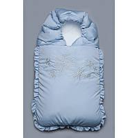Конверт на выписку зимний голубой Снежинки 03-00468-0 Модный карапуз