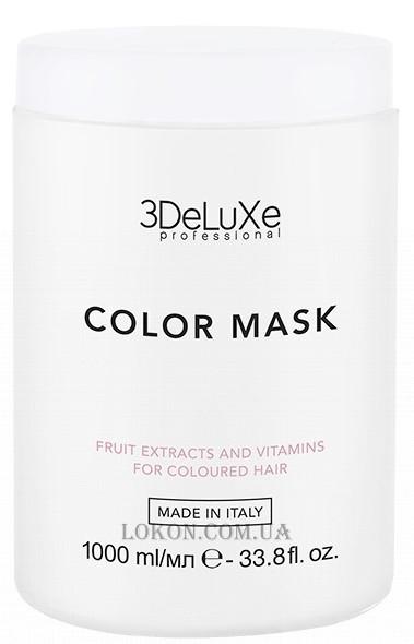 Маска для окрашенных волос 3DeLuxe Professional Color Mask, 1000 мл(Италия)