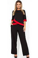 Деловой женский брючный костюм размеры от XL 4316