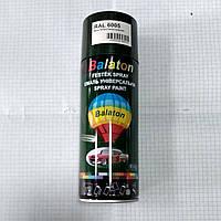 Эмаль краска универсальная алкидная темно-зеленая 6005 аэрозоль 400мл Balaton
