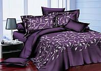 Постельное белье Комплект «Ветка на фиолетовом»   (Евро комплект )
