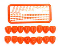 Силиконовая рыболовная наживка Mad Carp Кукуруза оранжевая, 16 шт