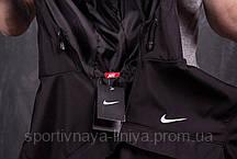 Мужской костюм анорак со штанами Nike реплика черный + подарок , фото 3