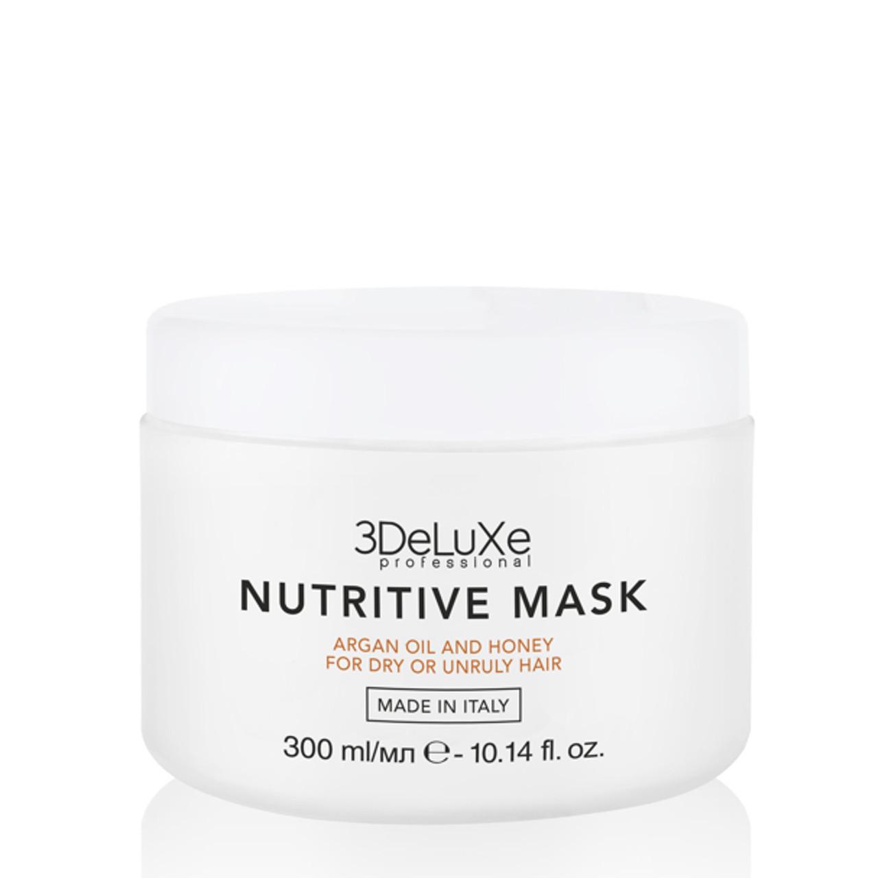 Маска для сухих и повреждённых волос 3DeLuXe Professional Nutritive Mask 300 мл(Италия)