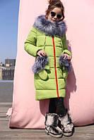 Детское зимнее пальто Мелитта-К цвет фисташка