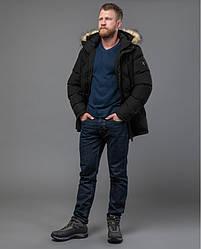 Зимная  куртка / пуховик  мужская с кнопками Tiger Force модель чорная 70450 розмір 46 48 50 52