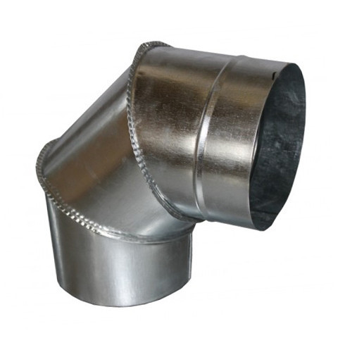 Колено дымоходное 90° х 90 мм х 0.45 мм (отвод)