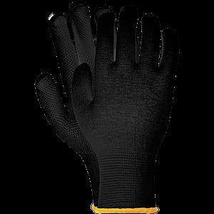 Защитные перчатки RMICROLUX B с односторонним накроплением, черного цвета. REIS