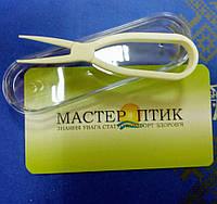 Силіконовий Х-подібний пінцет для контактних лінз у футлярі, 7,5 см, фото 1