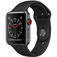 Apple Watch Series 3 38mm GPS+LTE Space Gray Aluminum Case with Gray Sport Band (MR2W2)