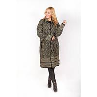 Вязаное женское пальто кардиган большие размеры