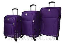 Чемодан на 4 колесах Bonro Tourist (небольшой) фиолетовый, фото 3
