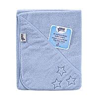 Махровое полотенце с капюшоном XKKO Organic 90x90 - Baby Blue Stars, фото 1