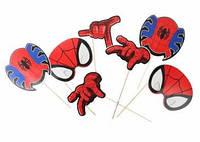 """Фотобутафорія """"Спайдермен"""" (Людина-павук), упаковка 8 предметів"""