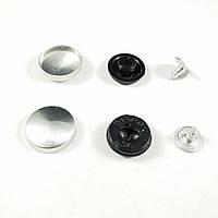Пуговица под обтяжку прибивная №24 - 14,3 мм Черная
