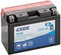 Мото аккумулятор Exide ET9B-BS = YT9B-BS