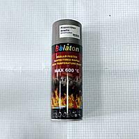 Эмаль краска жаростойкая серебряная аэрозоль 400мл Balaton