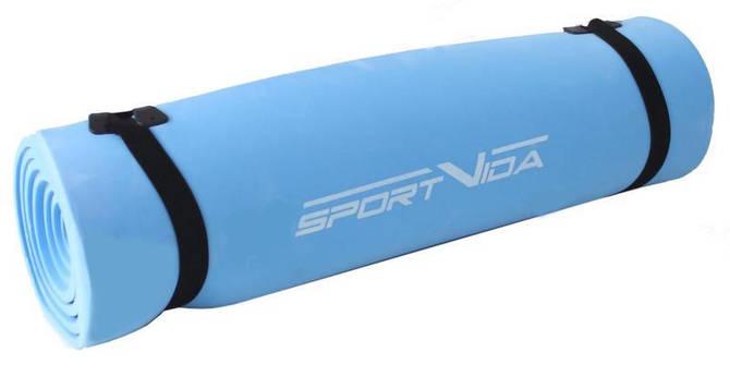 Коврик туристический (каремат) SportVida EVA 0.7 см Blue