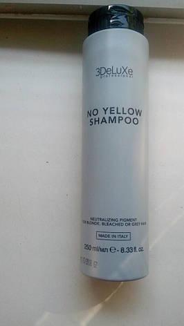Шампунь для нейтралізації жовтизни 3DeLuxe Professional No Yellow Shampoo, 250 мл (Італія), фото 2