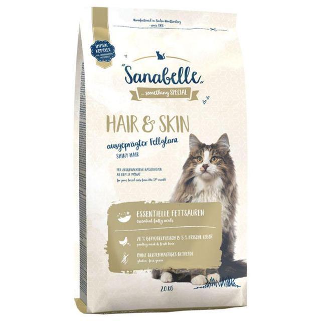 Bosch Sanabelle Hair & Skin 10кг корм для выставочных и привередливых кошек