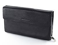 Мужской клатч Marco Coverna в черном цвете прикоснитесь к совершенству кожаных аксессуаров из 100% кожи