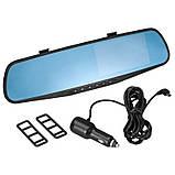 Автомобильный Видеорегистратор DVR 138E Зеркало с 1 камерой, фото 2