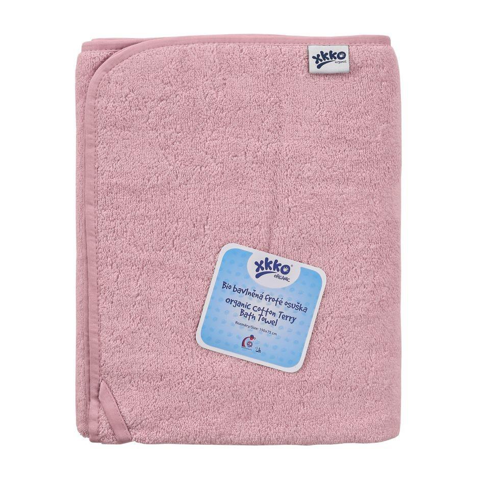 Полотенце розовое из органического хлопка ХККО 150x75