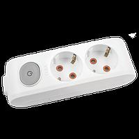 Колодка на 2 гнізда з заземленням та вимикачем Multi-Let (90118200)