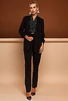 Модный Брючный Костюм с Удлиненным Жакетом  Черный S-XL, фото 1