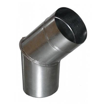 Колено для дымохода 45° х 130 мм х 0.45 мм, фото 2