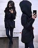Женский кардиган-пальто с капюшоном и поясом (4 цвета), фото 6