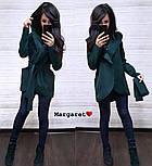 Женский кардиган-пальто с капюшоном и поясом (4 цвета), фото 10