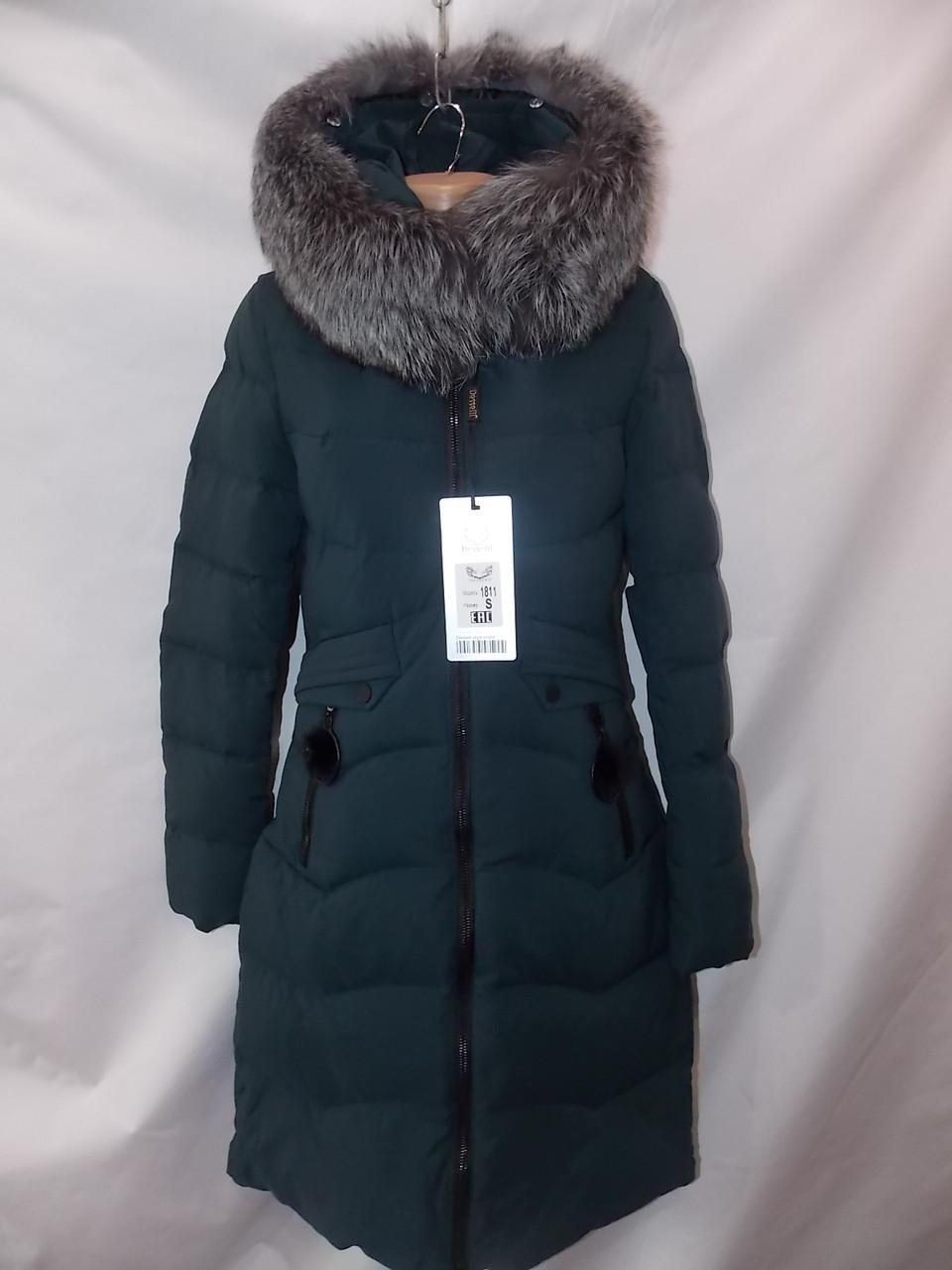 d4d95a688215 Женская куртка зимняя натуральный мех