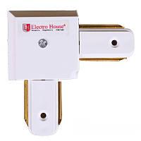 ElectroHouse Коннектор для трекового LED светильника угловой белый