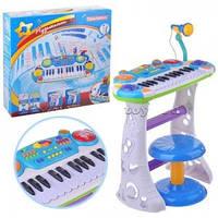Пианино  детское  7235   цвет голубой