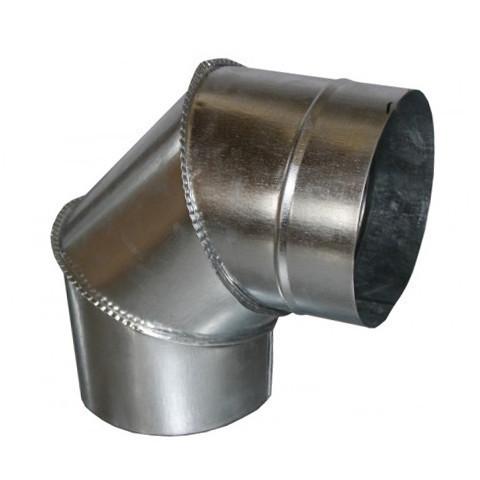 Колено дымоходное 90° х 110 мм х 0.7 мм (отвод)