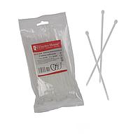 ElectroHouse Стяжка кабельная белая 4x150