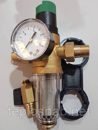 """Самопромывной фильтр с редуктором 3/4"""" KARRO (Испания) KR 8800 3/4"""", фото 2"""