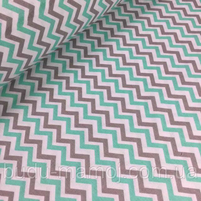 Непромокаемая пеленка в коляску кроватку Польша Зигзаги - Интернет магазин