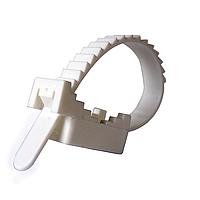 ElectroHouse Крепеж ремешковый EH-L100D25 Ø 25мм Ø отв. 4 мм белый 100 шт.