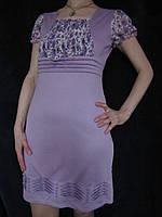 Молодежное летнее платье сиреневое, 46-48 размер, фото 1