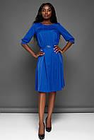 Повседневное Комфортное Платье с Карманами Электрик S-XL, фото 1