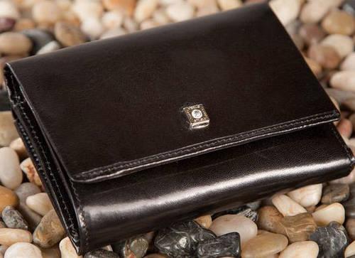 Кожаный женский кошелек-портмоне VERUS Paris, артикул: 53A PAR черный