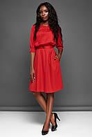 Повседневное Комфортное Платье с Карманами Красное S-XL, фото 1