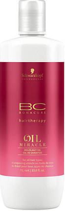 Шaмпyнь c мacлoм бpaзильcкoгo opexa Schwarzkopf BC Oil Miracle Brazilnut Oil-in-Shampoo 1000 мл, фото 2