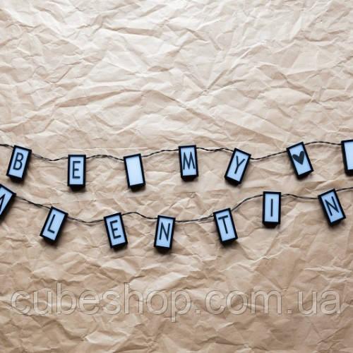 Гирлянда из букв с подсветкой Letter light string