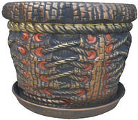 Керамический цветочник корсет 7л, фото 1