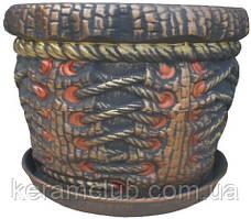 Керамический цветочник корсет 7л