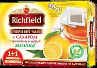 Чай черный с сахаром с ароматом и цедрой лимона ТМ Richfield, 20 пак., фото 1