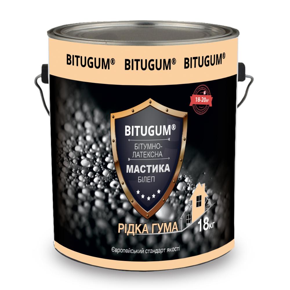 Мастика битумно-латексная «жидкая резина» БиЛЭП Bitugum (18 кг)